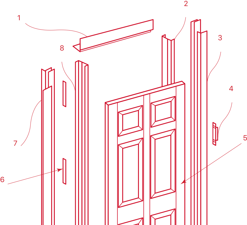 Door and Frame Diagram