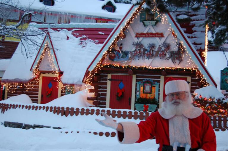 Santa at the North Pole