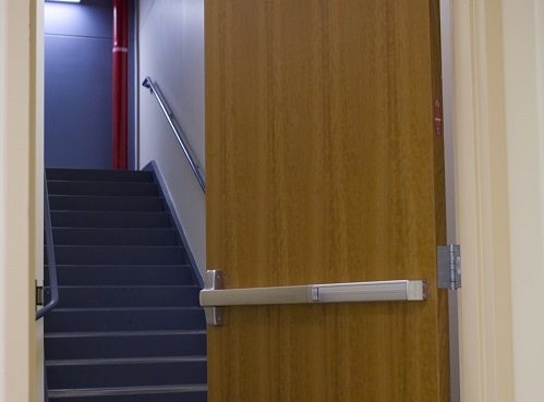 Exit device into stairwell & Von Duprin Exit Devices - Beacon