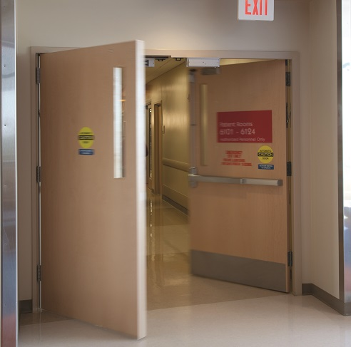 A pair of doors that are used in \u201ccross-corridor\u201d applications are a unique situation. Double egress door leaves swing in opposite directions allowing ... & Double Doors: Active Leaf vs. Inactive Leaf - Beacon