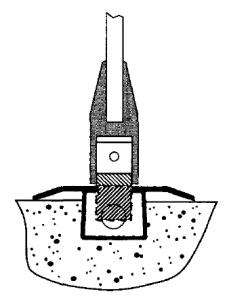 Concealed Shear lock in floor