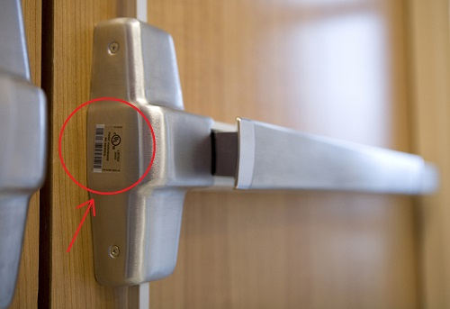 Exit Device Label