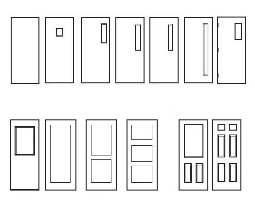 Hollow Metal door elevations