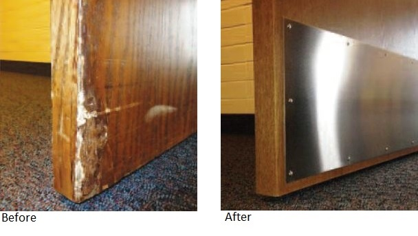 Door Replacement Before and After for LDS Chapels and LDS Facilities