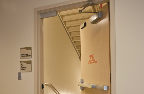 Stairwell fire door