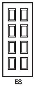 8 Panel Hollow Metal Door