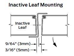 Z Astragal Inactive Leaf