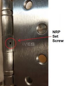 NRP set screw