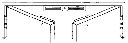 Double doors with mag locks