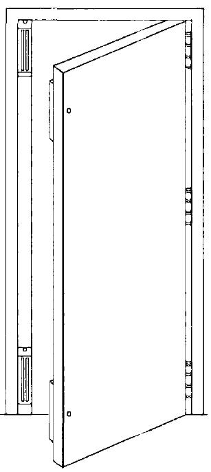 Single Door with Mag Lock on jamb